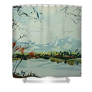 Watercolor5498 Shower Curtain
