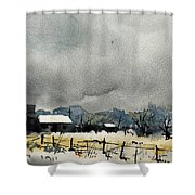 Watercolor7232 Shower Curtain