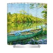 Watercolors At The Lake Shower Curtain