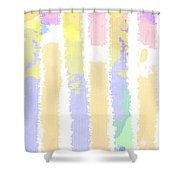 Watercolour Abstract Strips 2 Shower Curtain