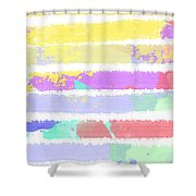 Watercolour Abstract Strips Shower Curtain
