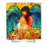 Watercolour Angel Shower Curtain