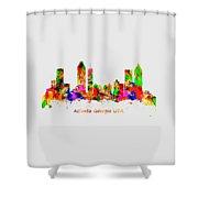 Watercolour Art Print Of The Skyline Of Atlanta Georgia Usa Shower Curtain