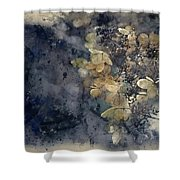 Watercolour Painting Of Stunning Dried Hydrangea Hortensia Flowe Shower Curtain