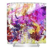 Watercolour Watercolor Paint Ink  Shower Curtain
