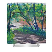 Watercress Beach On The Current River   Shower Curtain