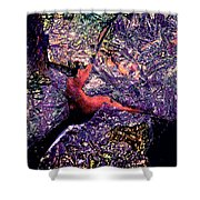 Waterdrop Abstract Shower Curtain