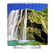 Waterfal Krcic In Knin Turquoise Stream Shower Curtain