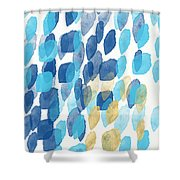 Waterfall- Abstract Art By Linda Woods Shower Curtain