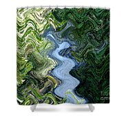 Waterfall Abstract Shower Curtain