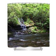 Waterfall And Mountain Creek Shower Curtain
