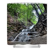 Waterfall And Natural Gas Shower Curtain