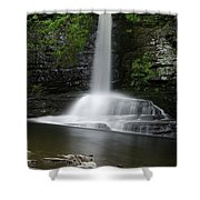 Waterfall At Childs Park Pa Shower Curtain