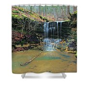 Waterfall At Don Robinson State Park 1 Shower Curtain