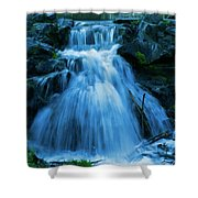 Waterfall At Finch Arboretum Shower Curtain