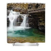 Waterfall At Johnston Canyon Shower Curtain