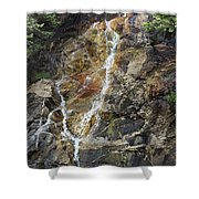 Waterfall At Lake Willoughby  Shower Curtain