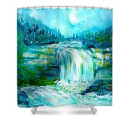 Waterfall At Pont Espagna Shower Curtain
