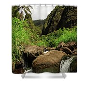 Waterfall At The Iao Needle Shower Curtain