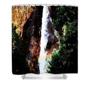 Waterfall At Yosemite Shower Curtain