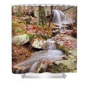 Waterfall Atop Petit Jean Mountain - Arkansas - Nature Shower Curtain