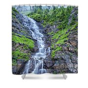 Waterfall Below The Garden Wall Shower Curtain