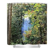 Waterfall Beyond The Trees Shower Curtain