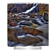 Waterfall Canyon Vertical Shower Curtain