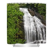 Waterfall Closeup Shower Curtain