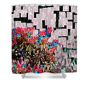Waterfall Flowers 2 Shower Curtain
