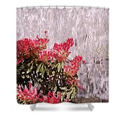 Waterfall Flowers Shower Curtain