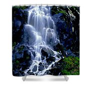 Waterfall Flowing And Ebbing Shower Curtain