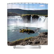 Waterfall - Godafoss Shower Curtain