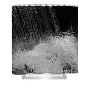 Waterfall In Black And White Shower Curtain