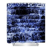 Waterfall In Blue Shower Curtain