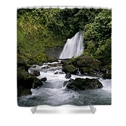 Waterfall In La Fortuna Shower Curtain