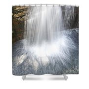 Waterfall In Nh Splash 3 Shower Curtain
