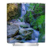 Waterfall In Soft Dream. Shower Curtain
