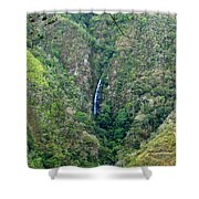 Waterfall In The Intag 4 Shower Curtain