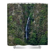 Waterfall In The Intag 5 Shower Curtain