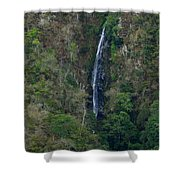 Waterfall In The Intag Shower Curtain