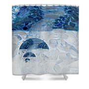 Waterfall In The Moon Shower Curtain