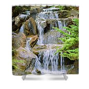 Waterfall In The Vandusen Botanical Garden 1 Shower Curtain