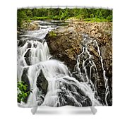 Waterfall In Wilderness Shower Curtain