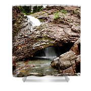 Waterfall Into A Cave Shower Curtain