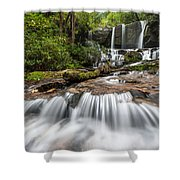 Waterfall Jocassee Gorges Upcountry South Carolina Shower Curtain