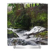 Waterfall Near Tallybont-on-usk Wales Shower Curtain