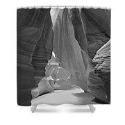 Waterfall Of Light - Black And White Shower Curtain