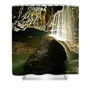Waterfall Of The Caverns Shower Curtain