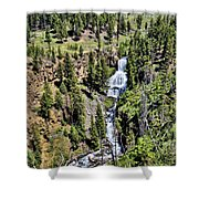 Waterfall On Lava Creek 1 Shower Curtain